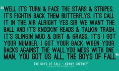 The boys of fall- Kenny Chesney