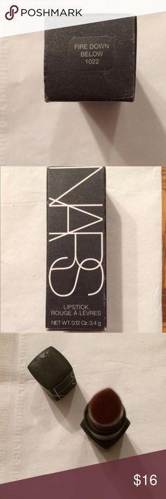 NARS Fire Down Below lipstick NARS lipstick in Fire Down Below NARS Makeup Lipstick