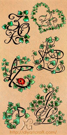 #ivy #monogram #tattoo