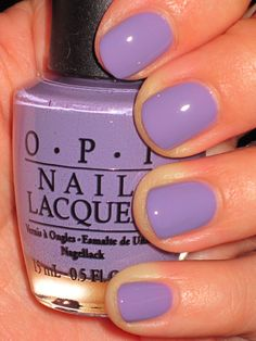 OPI nail polish.  Just guessing what this one is called... Iris I was Thinner? Loving Lavender? Do You Lilac It? Planks A Lot from the Pirates of Carribean collection? Not sure but I LOVE it <3