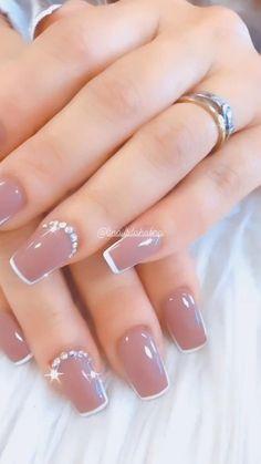 Elegant Nails, Classy Nails, Fancy Nails, Elegant Nail Designs, French Nail Designs, Popular Nail Designs, Gel Nail Designs, Chic Nails, Stylish Nails