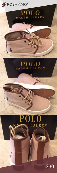 Ralph Lauren Polo Mid Sneakers Canvas upper with branded embroidery at the side and a branded patch on the tongue. Lace-up design for a secure and adjustable fit. Breathable textile lining and a cushioned textile insole. Durable rubber outsole. Polo by Ralph Lauren Shoes Sneakers