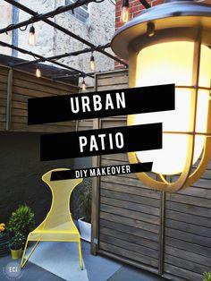 ***the metal pergola Urban Patio DIY Makeover Backyard Pergola, Patio Roof, Pergola Plans, Pergola Kits, Pergola Ideas, Diy Gazebo, Patio Wall, Diy Deck, Diy Patio