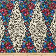 Amy Butler Hapi Trapeze Charcoal from @fabricdotcom  Designed by Amy Butler for Rowan/Westminster Fabrics, this fabric is perfect for quilting, apparel and home decor accents. Colors include hot pink, ivory, blue, red, yellow, green and charcoal.