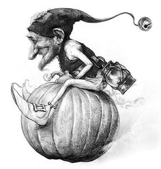 In the world of weird wunderkins, pumpkin powered-personalities rule! - Jean-Baptiste Monge illustration