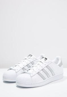 info for 9d554 10f7c adidas Originals SUPERSTAR - Sneakers laag - white silver metallic core  black - Zalando