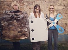 Rock Paper Scissors funny Halloween costume idea