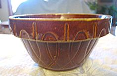 Cool vintage stoneware bowl for sale at More Than McCoy on TIAS in the Kitchen Collectibles & Pottery/Stoneware category! Visit my store for hundreds of stoneware items for sale; some antique, vintage or collectible!