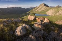 One of the mountain lakes of Kensu in the Almaty region, Kazakhstan
