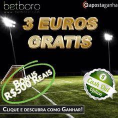 Tudo o que os brasileiros procuram numa casa de apostas: - 3 euros de Bônus sem depósito; - R$ 500 Reais de Bônus; - Opção de Cashout;  Não deixe de aproveitar e conhecer a Betboro! Clique e saiba como GANHAR!!!!  http://9nl.co/Promo-3eurosGratis-betboro-AG  #betboro #apostas #apostasonline #futebol #dinheiro #free #bonus #freebet #bet #apuesta