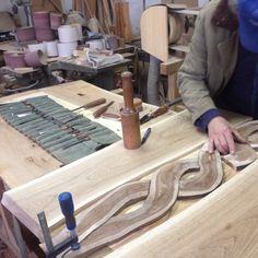 Tavolo da pranzo in legno massiccio rovere adge a mano dal