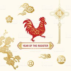 Year of the Rooster Celebration ロイヤリティフリーのイラスト素材
