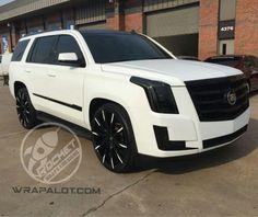 Custom Black & White Cadillac Escalade
