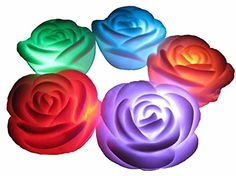 Flameless Candles ,6-Battery Powered, Waterproof, Color Changing (7 Colors) LED Romantic Rose Flower Night Light Floating Candle. classic glow http://www.amazon.com/dp/B00IPKJSIC/ref=cm_sw_r_pi_dp_tbgPvb0SP12BS
