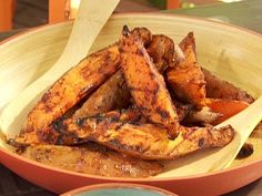 Grilled Sweet Potato Wedges from Bobby Flay. Had these twice at a friend's house and they were awesome!