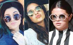Os óculos de sol redondos viraram hit entre famosas e it-girls As famosas mais ligadas em moda também já aderiram à armação. Cada uma do seu jeito.