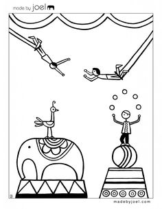 circus train coloring pages | 1000+ images about Circus Stuff on Pinterest | Clowns ...