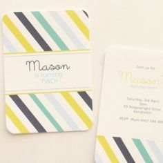 baby shower invitations? like the stripes and colors
