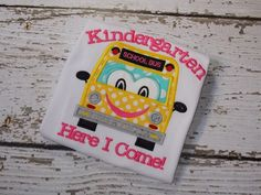 Hey, I found this really awesome Etsy listing at http://www.etsy.com/listing/158541069/back-to-school-kindergarten-here-i-come