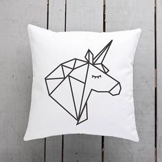geometric cushion geometric pillow unicorn gift unicorn