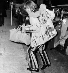 "bellbottoms: ""chelsea-boots: ""just wanted to bring this cartoonishly villainous snap of brian jones back to everyone's attention. context given by alamy stock photo: ""brian jones of the rolling stones sneaks into the london harley street nursing home. 60s Men's Fashion, Brian Jones Rolling Stones, Rollin Stones, Stevie Ray Vaughan, David Gilmour, Keith Richards, Def Leppard, Mick Jagger, Aerosmith"