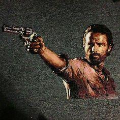 Rick Grimes - The Walking Dead perler pixel art bgkayz Pearler Beads, Fuse Beads, The Walking Dead, Pixel Beads, Perler Patterns, Daryl Dixon, 8 Bit, Bead Crafts, Bead Art