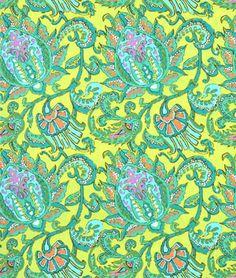 Amy Butler Dancing Paisley Lemon Fabric