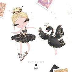 Actually the #blackswan is for the blond ballerina  #karamfilas #Karamfila #ballerina #ballerinas #swan #swanlake #dancer #nurserydecor…