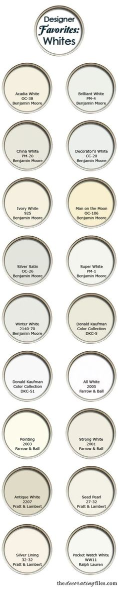 7. Discover more shades of white - 50 Amazingly Clever Cheat Sheets To Simplify Home Decorating Projects