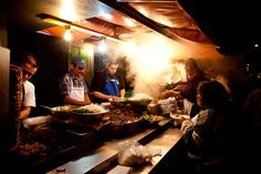 Late night tacos on the streets of Tlaquepaque, near Guadalajara, Mexico.