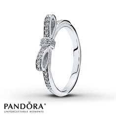 Pandora Ring Sparkling Bow Sterling Silver