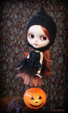 Maud is posing for Halloween session in KarolinFelix outfit and in Spellbound Black hat