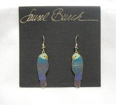 Hey, I found this really awesome Etsy listing at https://www.etsy.com/listing/178678109/laurel-burch-lorikeets-earrings-blue