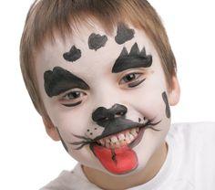 Trop mignon le maquillage de chien dalmatien pour enfant et original pour le…