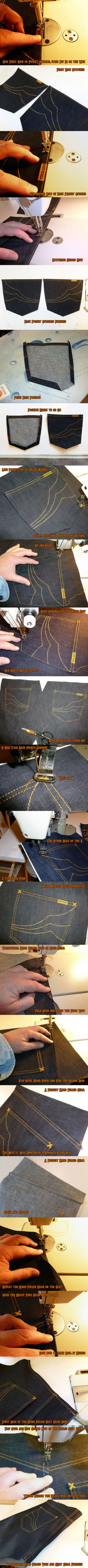 Awesome pic series on the handmade jeans!