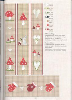 mitten x-stitched trim  with other small motifs Gallery.ru / Фото #62 - 869 - Yra3raza