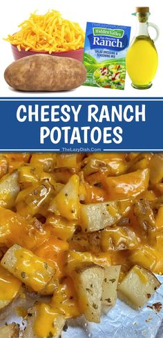Super Yummy Cheesy Ranch Potatoes (Quick & Easy Side Dish For Steak & Chicken!)
