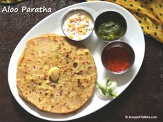 Aloo Paratha is a dish that is very popular in Northern states of India, particularly Punjab. Paratha is an Indian bread that is either stuffed or non-stuf