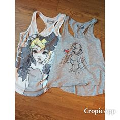 SALE!Disney tank top bundle juniors M Disney tank top bundle size M juniors size M. One Snow White and one Tinkerbell. You can buy both for the bundle price or one for $10! Disney Tops Tank Tops