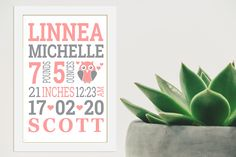 Personalized Birth Certificate Instant Download Board