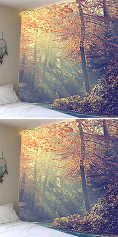 fall decor ideas:Tree Leaves Wall Art Tapestry