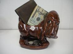Basset Hound Vintage Accessory Holder on Etsy, $30.00