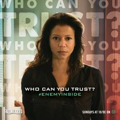 "Who can you trust?  Gloria Reuben as Marina Peralta from the TV Show ""Falling Skies""."