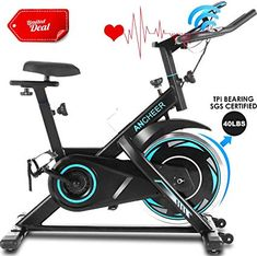 Enjoy exclusive for ANCHEER Indoor Exercise Bike Stationary, Belt Drive Cycling Bike Heart Rate Monitor, Workout Bikes Comfortable Seat Cushion LCD Monitor, Home Office Exercise online - Trendyclothingonline Indoor Cycling Bike, Cycling Bikes, Office Exercise, Perfect Abs, Belt Drive, Bike Seat, Cycling Workout, Workout Machines, Lcd Monitor