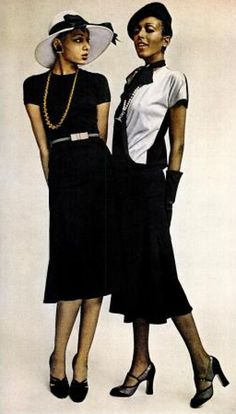 EBONY March 1974 There is something to say about a thin tall black woman in elegant clothes. You have to notice and your lying if you say you don't.