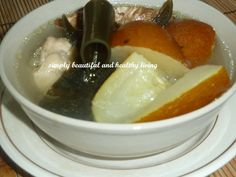 Sea Kelp has a lot of health benefits and when make into soup, it's very refreshing especially with extra ginger added to it. http://simplybeautifulhealthyliving.blogspot.com/2013/09/refreshing-kelp-with-old-cucumber-soup.html