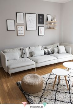 Living room furnishings: inspiration for IKEA Söderhamn couch, Moroccan-style carpet and the right wall color Living Room Decor, Bedroom Decor, Ikea Bedroom, Living Rooms, Home Furnishings, Home Furniture, Bedroom Furniture, Interior Design, Home Decor