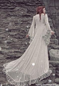 Victorian Medieval Velvet and Lace Gown Custom by RomanticThreads on Sense of Fashion