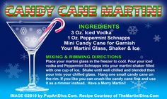 CANDY CANE CHRISTMAS MARTINI recipe on a Free Recipe Card - Click the image for the Full Sized, Print Quality Recipe Card!