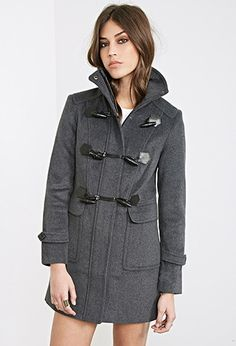 Funnel Neck Toggle Coat | Forever 21 - 2000102493